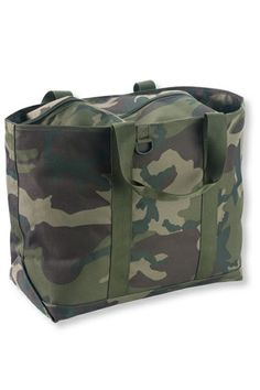 First Visit At HomeFor anyone: You've got initials now, so use them. A monogrammed LL Bean Camo Tote and a pack of size 1 diapers is stylish, functional and immediately helpful. LL Bean Hunter's Tote Bag, $29, available at LL Bean.