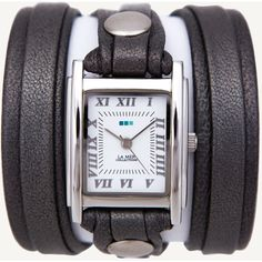 Gunmetal Layer Wrap Watch ($68) ❤ liked on Polyvore