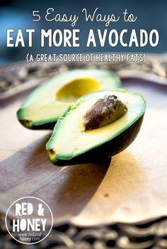 5 Easy Ways to Eat More Avocado.  So given all of the major health benefits of this delicious little superfood, I thought I'd put together a little list of some of the easiest things to do with avocados.  Enjoy!