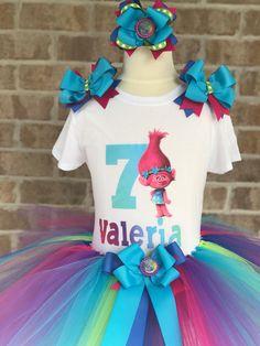 Trolls Birthday Tutu Outfit by MadilynnsTutuCloset on Etsy