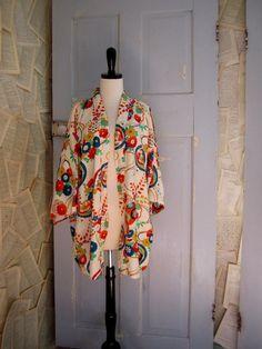 1970s Japanese Bed Jacket