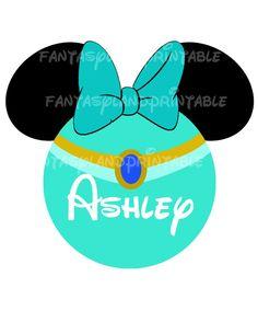 Jasmine Minnie Personalized with your Name DIY Printable Iron Transfer family  Disney trip Tangled Princess Shirt