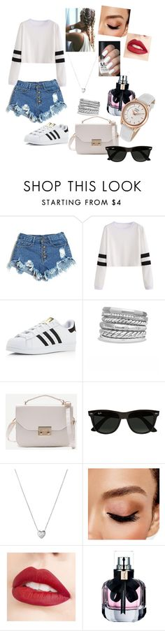 """""""Picknick Day"""" by valezb on Polyvore featuring adidas, David Yurman, Ray-Ban, Links of London, Avon, Jouer, Yves Saint Laurent and Rotary"""