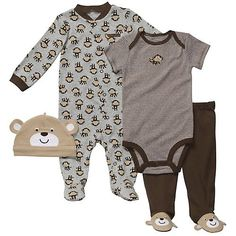 Carter's 4-pc. Monkey Sleep & Play Set