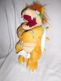 Bowser - Nintendo soft toy - play-by-play - Mario Bros. Play Mario Bros, Movie Characters, Bowser, Nintendo, Retro, Toys, Ebay, Activity Toys, Toy