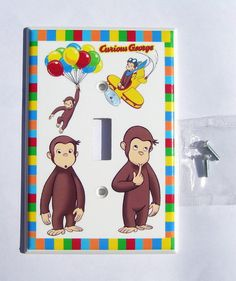 CURIOUS GEORGE Switch Plate Cover Single By PATRINASPLACE On Etsy 850 Curious George Bedroom