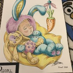 Art Drawings For Kids, Art Drawings Sketches, Baby Bunnies, Bunny, Baby Room Pictures, Baby Sketch, Baby Coloring Pages, Baby Art, World Of Color