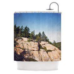 Windswept Cliffs by Jillian Audrey Shower Curtain