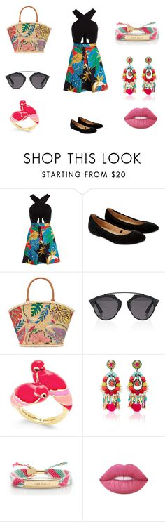 """""""Flower pattern (everyday look)"""" by fashionprincess2014 ❤ liked on Polyvore featuring Alice + Olivia, Accessorize, Tory Burch, Christian Dior, Kate Spade, Ranjana Khan, Lime Crime, Flowers, colorful and CasualChic"""
