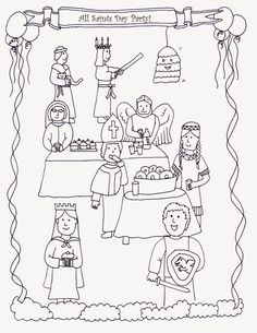 All Saints\' Day coloring page- free to print! | Saints and Angels ...