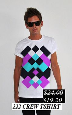 50% Discount. 222 Crew t-shirt. Now it's only.... $19.20
