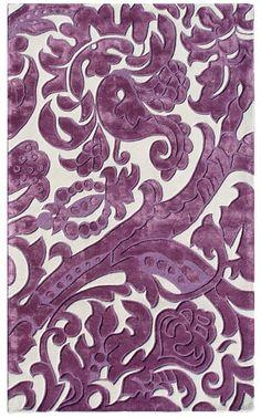Purple Punch: Leoni Lavander Tufted Wool Rug