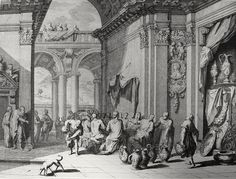 Phillip Medhurst presents John's Gospel: Bowyer Bible print 5281 Christ turns water into wine at Cana John 2:1 Orley on Flickr. A print from the Bowyer Bible, a grangerised copy of Macklin's Bible in Bolton Museum and Archives, England.