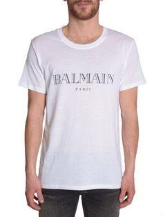 BALMAIN Cotton T-Shirt. #balmain #cloth #topwear