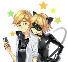 #Dessin #Fanart #MiraculousLadyBug Adrien #Chat Noir par hiyaa_ #Manga #Anime