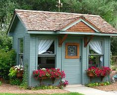 how to decorate inside of a potting shed - Google Search