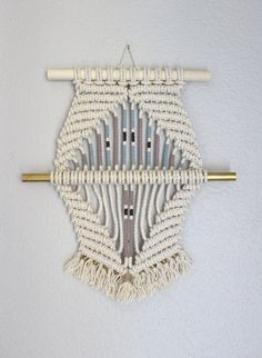 "Macrame Wall Hanging ""Diamond #6"" by HIMO ART, One of a kind Handcrafted…"