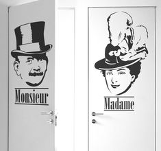 Great stickers for the bathroom! Bathroom Stickers, Door Stickers, Monsieur Madame, Holland, Toilet, Batman, French, Superhero, Fictional Characters