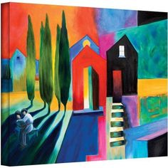 ArtWall Susi Franco Trying to Talk Her Into It Gallery-wrapped Canvas, Size: 18 x 24, Blue