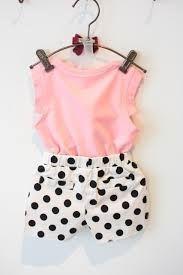 cool 2015 Summer Style Baby Girls Clothing Set Sleeveless Vest+Polka Dot Pant 2pcs/set Kids Cotton Clothes Set 3-8 Years KF064