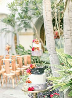 """""""Today's styled wedding draws its inspiration from Spain and old California. Wedding Drawing, Wedding Cake Inspiration, Plan Design, Table Runners, Signage, Wedding Cakes, Spain, Old Things, Tropical"""
