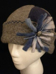 recycled sweater hat #millinery #judithm #hats