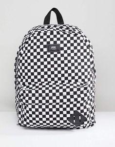 Vans Old Skool II checkerboard backpack in black VN000ONIHU01 c235ec8503a