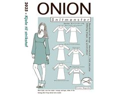 Empire-Kleid aus Strick, Schnittmuster ONION 2035 Empire, Family Guy, Guys, Memes, Fictional Characters, Design, Sew Dress, Sewing Patterns, Figurine