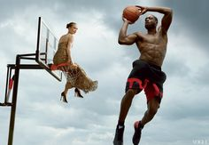 Vogue June 2012 Athlete Issue  Dwayne Wade and Karlie Kloss