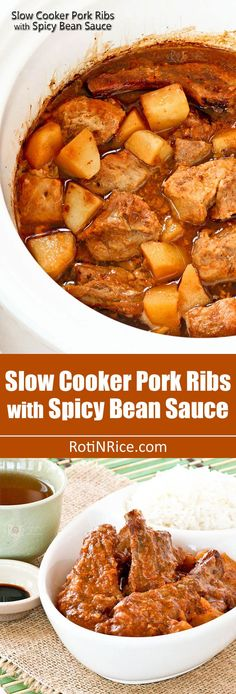 ... spicy bean sauce super easy slow cooker pork ribs with spicy bean