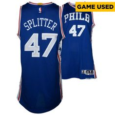 Tiago Splitter Philadelphia 76ers Fanatics Authentic Game-Used  47 Blue  Jersey vs. New York Knicks On April 12 f8a691ecb