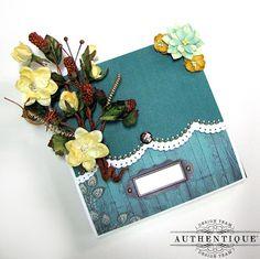 Natural Mini Album by Authentique Paper design team member Kay Fatula