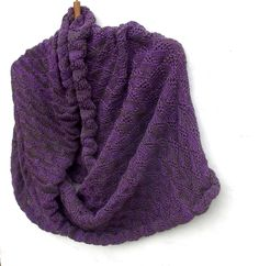 Knitted purple brown infinity scarf, knit colorful cowl shawl, women men hooded circle scarf, knitting  hoodies wrap accessories, cozy warm by peonijahandmadeshop on Etsy