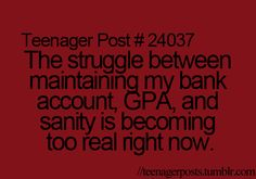 """I feel like this should be """"College Problems,"""" not """"Teenager Problems."""""""