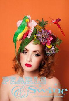 Voodoo in Haiti – Tropical Floral Headdress, Parrot, Monster Leaf, Pineapple…