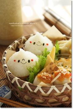 Cute Onigiri Rice Balls Bento Lunch by naohaha