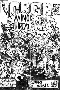 Minor Threat meets The Mob & Urban Waste at CBGB's Sat. Dec 18th