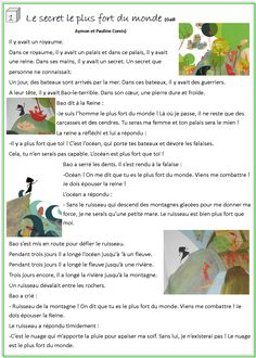Le secret le plus fort du monde French Education, French Classroom, French Immersion, French Language Learning, Teaching French, Idioms, Learn French, Reading Comprehension, Book Lovers