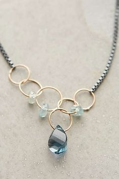 Anthropologie - Linked Topaz Necklace #anthrofave