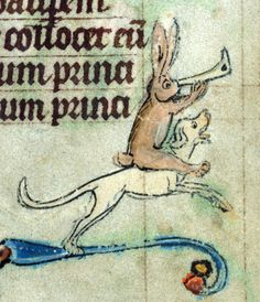 hound rider book of hours, Ghent ca. 1300 Baltimore, The Walters Art Museum, Walters Manuscript W.85, fol. 46r