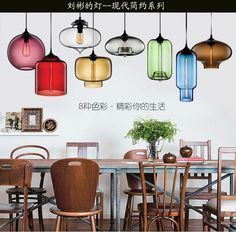 65.00$  Watch now - http://ali5xi.worldwells.pw/go.php?t=32387153844 - Bar glass chandelier modern minimalist dining room bedroom Restaurant Cafe personality single head of creative lighting 65.00$