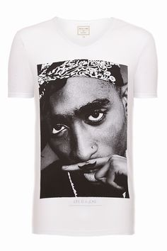 Eleven Paris Tupac Life is a Joke Mustache T-Shirt White now available from the Stush website;  http://www.stushclothing.co.uk/t-shirts/eleven-paris/eleven-paris-tupac-tshirt.html#    #tupac #2pac #elevenparis #clothing #hiphop