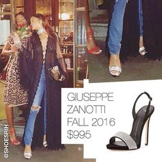 Giuseppe Zanotti black crystal-embellished strappy slingback sandals $995 Fall 2016, @badgalriri