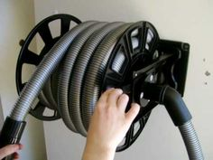 Ducted Vacuum Hose Retracting Hose Reel - YouTube