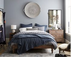 trendige farben fabelhafte schlafzimmergestaltung in grau blau wohnideen schlafzimmer graue. Black Bedroom Furniture Sets. Home Design Ideas