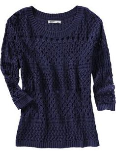 Navy Sweater.. comfy - where it off the shoulder with a white capri