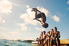 Splashing in Curacao