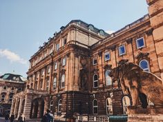 Best Budapest places to visit. Budapest Hungary, Places To Visit, Lion Sculpture, Louvre, Statue, Building, Travel, Voyage, Trips