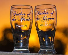 Mother of the Bride, Father of the Groom, Mother of the Groom, Father of the Bride/Groom. This listing is for one glass by HappyGlassDesigns on Etsy https://www.etsy.com/listing/192408800/mother-of-the-bride-father-of-the-groom