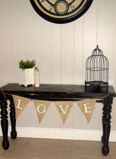 LOVE Burlap Banner Photo Prop Party Decor by SmittenLovely on Etsy, $12.00